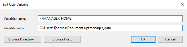 PFManage Variables