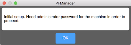 A popup requesting system administrator rights